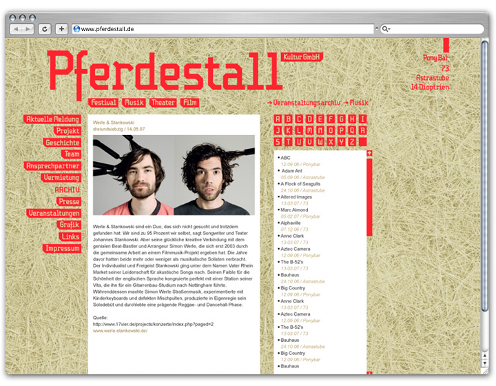 Pferdestall Website 2