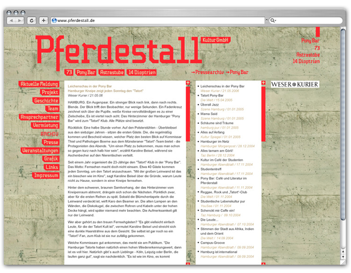 Pferdestall Website 3