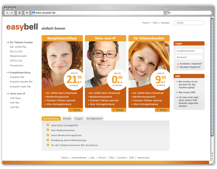 Easybell Website 1