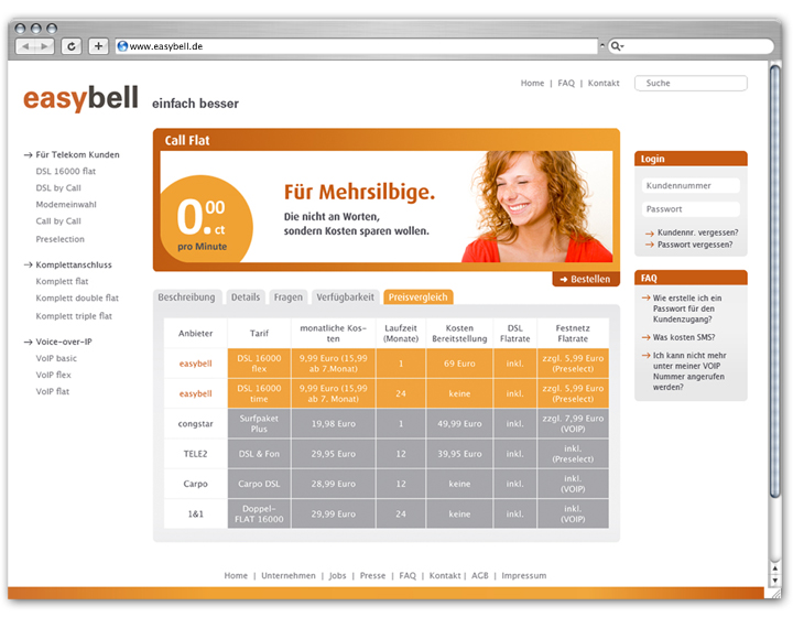 Easybell Website 3